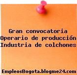 Gran convocatoria Operario de producción Industria de colchones