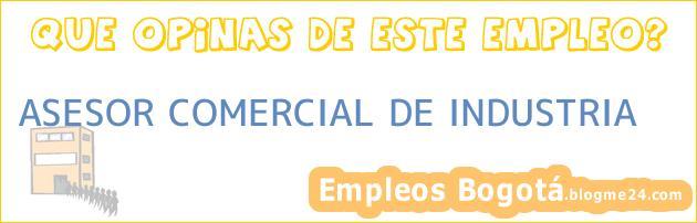 ASESOR COMERCIAL DE INDUSTRIA