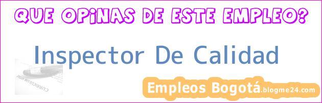 Inspector De Calidad