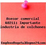 Asesor comercial &8211; Importante industria de colchones