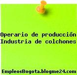 Operario de producción Industria de colchones