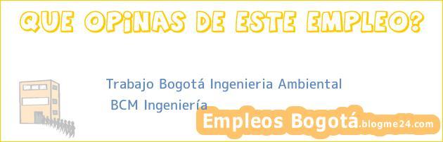 Trabajo Bogotá Ingenieria Ambiental | BCM Ingeniería