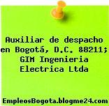 Auxiliar de despacho en Bogotá, D.C. &8211; GIM Ingenieria Electrica Ltda