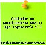 Contador en Cundinamarca &8211; Igm Ingeniería S.A