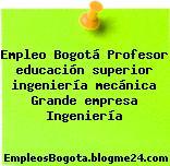 Empleo Bogotá Profesor educación superior ingeniería mecánica Grande empresa Ingeniería