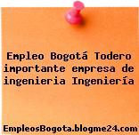 Empleo Bogotá Todero importante empresa de ingenieria Ingeniería