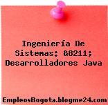 Ingeniería De Sistemas: &8211; Desarrolladores Java