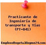 Practicante de Ingeniería de transporte y Vías (PT-841)