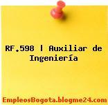 RF.598 | Auxiliar de Ingeniería