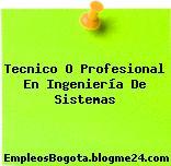 Tecnico O Profesional En Ingeniería De Sistemas