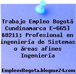 Trabajo Empleo Bogotá Cundinamarca E-665] &8211; Profesional en ingeniería de Sistemas o áreas afines Ingeniería