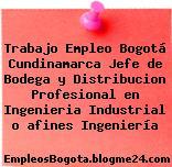 Trabajo Empleo Bogotá Cundinamarca Jefe de Bodega y Distribucion Profesional en Ingenieria Industrial o afines Ingeniería