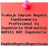 Trabajo Empleo Bogotá Cundinamarca Profesional En Ingeniería Hidraulica &8211; KAT Ingeniería
