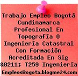Trabajo Empleo Bogotá Cundinamarca Profesional En Topografía O Ingeniería Catastral Con Formación Acreditada En Sig &8211; T259 Ingeniería
