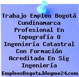 Trabajo Empleo Bogotá Cundinamarca Profesional En Topografía O Ingeniería Catastral Con Formación Acreditada En Sig Ingeniería
