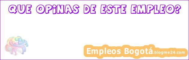 Empleo Bogotá PLU732]   Coordinador Comercial De Proyectos : Inmobiliarias Inmobiliaria