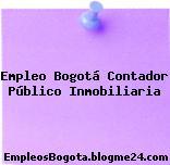 Empleo Bogotá Contador Público Inmobiliaria