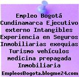 Empleo Bogotá Cundinamarca Ejecutivo externo Intangibles Experiencia en Seguros Inmobiliarias exequias Turismo vehículos medicina prepagada Inmobiliaria