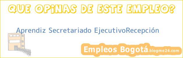 Aprendiz Secretariado EjecutivoRecepción