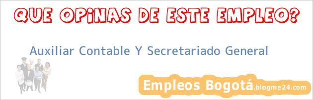 Auxiliar Contable Y Secretariado General