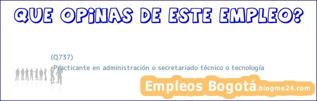 (Q737) | Practicante en administración o secretariado técnico o tecnología