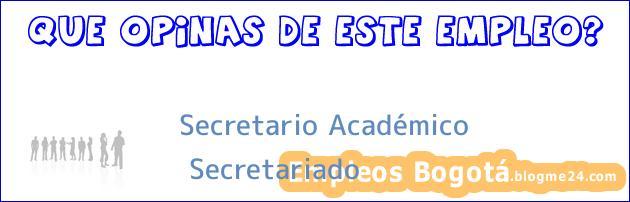 Secretario Académico Secretariado