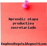 Aprendiz etapa productiva secretariado