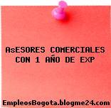 AsESORES COMERCIALES CON 1 AÑO DE EXP