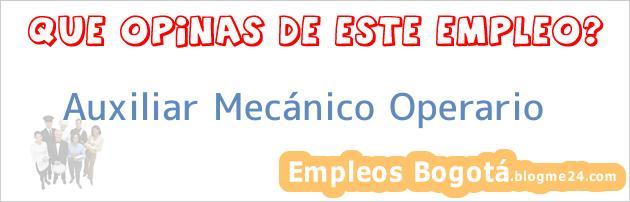 Auxiliar Mecánico Operario