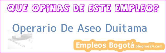 Operario De Aseo Duitama