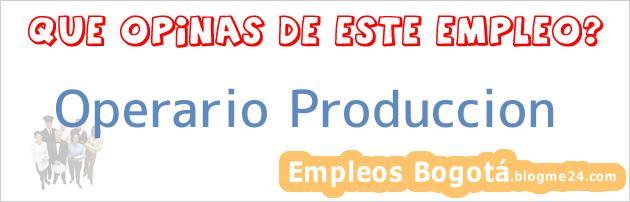 Operario Produccion