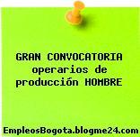 GRAN CONVOCATORIA operarios de producción HOMBRE