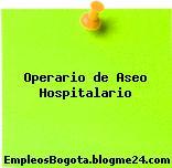 Operario de Aseo Hospitalario