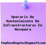 Operario De Mantenimiento De Infraestructuras En Mosquera