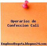 Operarios de Confeccion Cali