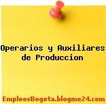 Operarios y Auxiliares de Produccion