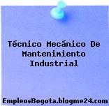 Técnico Mecánico De Mantenimiento Industrial