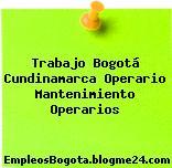Trabajo Bogotá Cundinamarca Operario Mantenimiento Operarios