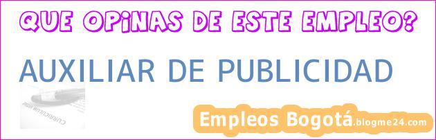 AUXILIAR DE PUBLICIDAD