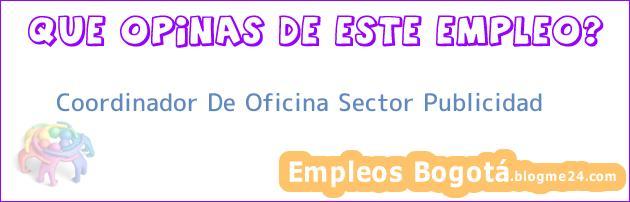 Coordinador De Oficina Sector Publicidad