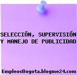 SELECCIÓN, SUPERVISIÓN Y MANEJO DE PUBLICIDAD