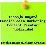 Trabajo Bogotá Cundinamarca Marketing Content Creator Publicidad