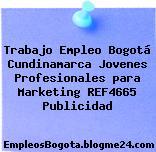 Trabajo Empleo Bogotá Cundinamarca Jovenes Profesionales para Marketing REF4665 Publicidad
