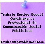 Trabajo Empleo Bogotá Cundinamarca Profesional En Comunicación Social Publicidad