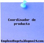 Coordinador de producto
