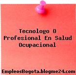Tecnologo O Profesional En Salud Ocupacional