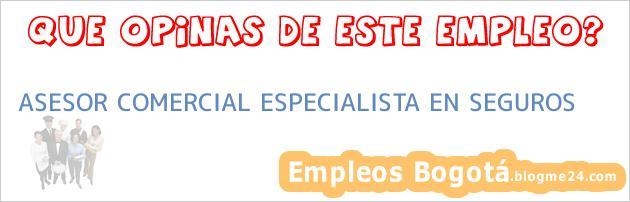 ASESOR COMERCIAL ESPECIALISTA EN SEGUROS