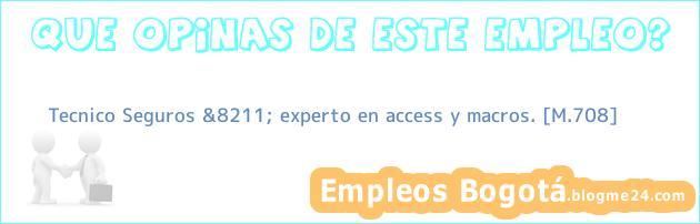 Tecnico Seguros &8211; experto en access y macros. [M.708]