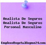 Analista De Seguros Analista De Seguros Personal Masculino