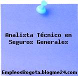 Analista Técnico en Seguros Generales